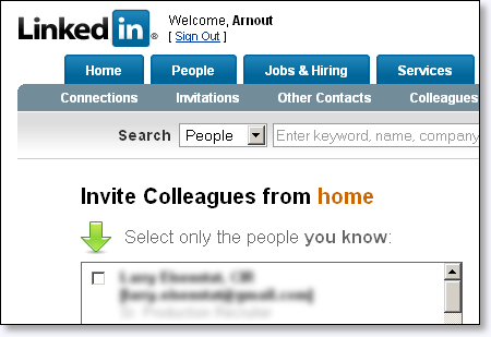 LinkedIn colleagues from home...